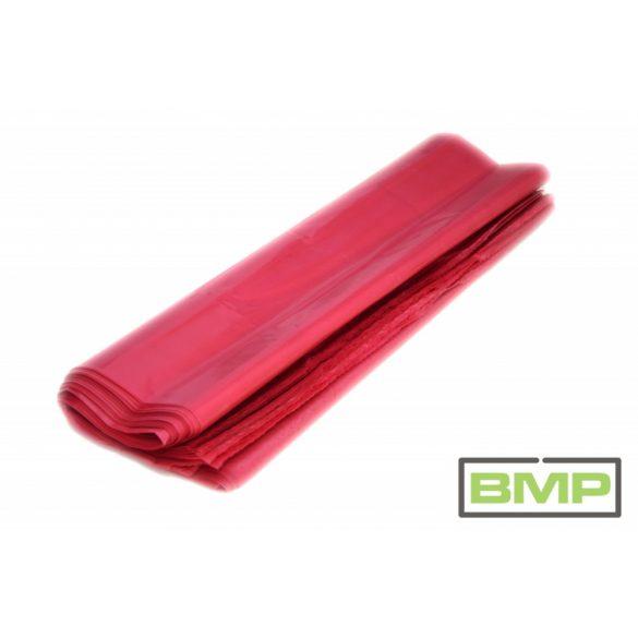 Piros zsák PE 500 + 2 x 130 x 1100 x 0,08