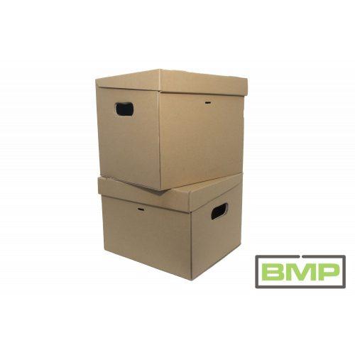 Kartondoboz 325x295x290 mm - önzáró irattári mappa gyűjtő karton